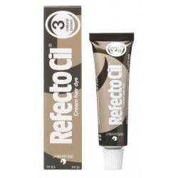 Refectocil eyelash eyebrow tint 3 naturalbrown, pasta do brwi i rzęs, 15ml