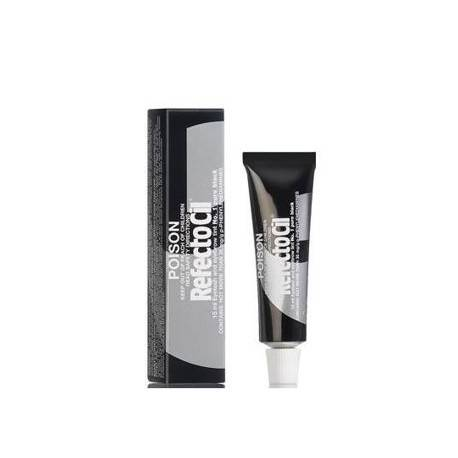 Refectocil eyelash eyebrow tint 1 pure black, pasta do brwi i rzęs, 15ml