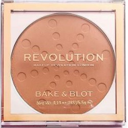 Makeup Revolution Puder do Twarzy Bake&Blot Peach