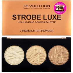 Makeup Revolution Paleta Rozświetlaczy do Twarzy Strobe Luxe Highlighter Palette