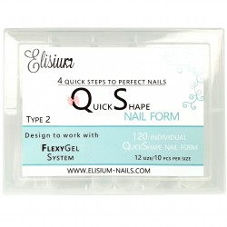 Elisium Quick Shape nail formy TYP2 120szt