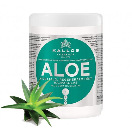 Kallos Aloe Vera Mask - maska do włosów - aloes, 1000 ml